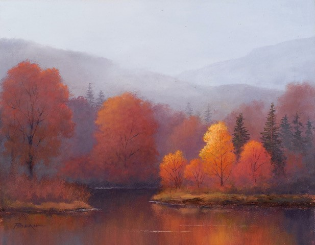 """A Cool Morning Mist"" by Phil Bean, Oil on Canvas"