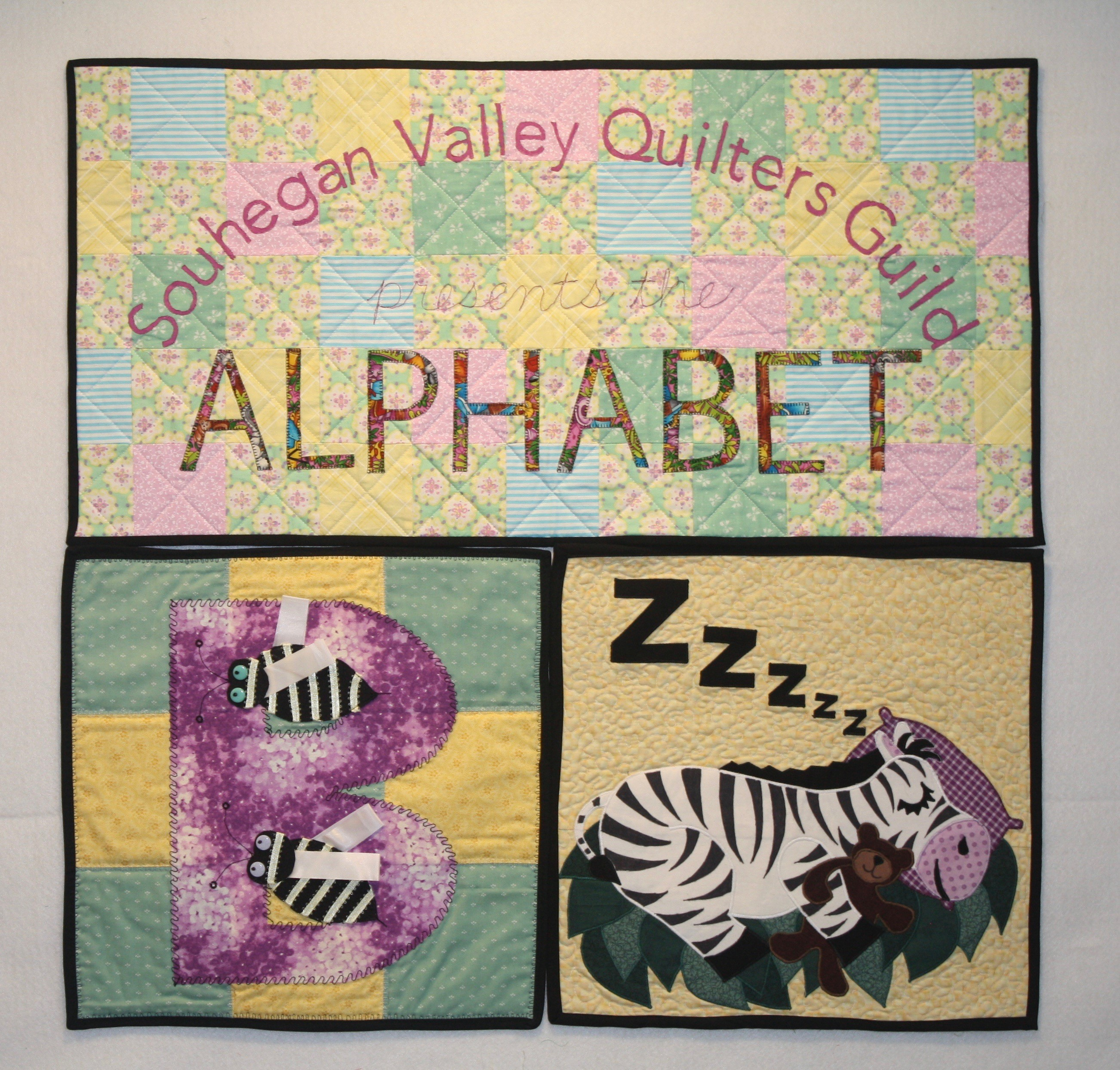 """""""ALPHABET"""" by Souhegan Valley Quilters Guild"""