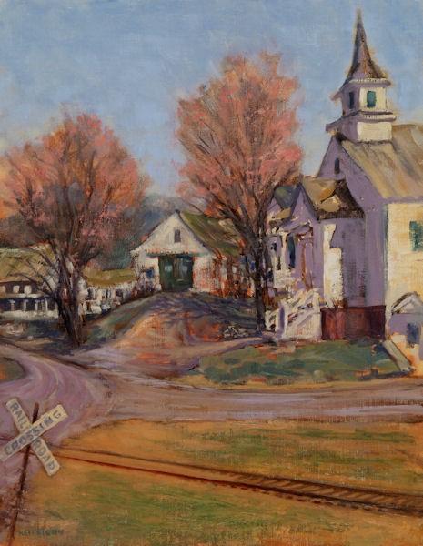 """""""Cross Roads"""" by Ken Fiery, Oil on Linen"""