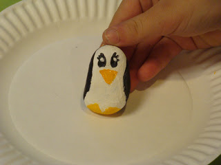 "Here's the sample ""penguin rock"" that Cassandra made..."