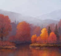 """""""A Cool Morning Mist"""" by Phil Bean, Oil on Canvas"""