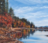 """Fall Foliage"" by Doug Philipon, Oil on Board"