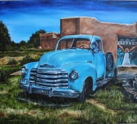 """""""Chevy"""" by Laura Tyers, Oil on Canvas"""