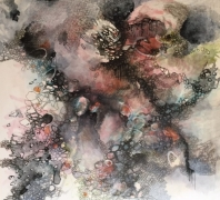 """""""Disorder XIII"""" by Tracy Hayes, Mixed Media on Canvas"""